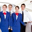 Airplane cabin crew — Stock Photo #9356206