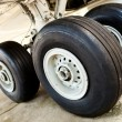 Airplanes undercarriage — Stock Photo