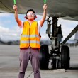 Air traffic controller - Stock Photo