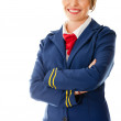 Beautiful air hostess — Stock Photo