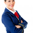 Confident stewardess — Stock Photo