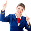Royalty-Free Stock Photo: Flight attendant touching with fingers