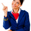 Royalty-Free Stock Photo: Flight attendant pointing