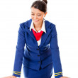 Stock Photo: Air hostess isolated