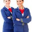 Beautiful flight attendants - Stock Photo
