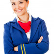 Beautiful flight attendant — Stock Photo #9356349