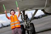 Controlador de tráfico aéreo — Foto de Stock