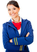 Beautiful flight attendant — Stock Photo