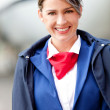 Beautiful flight attendant — 图库照片