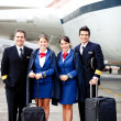 Stock Photo: Pilots and air hostesses