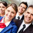 Pilots and air hostesses — Stock Photo