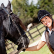 Womwith horse — Stock Photo #9377458