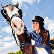 Elegant womwith horse — Stock Photo #9377465