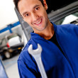 Royalty-Free Stock Photo: Mechanic with a wrench
