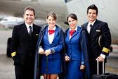 Vliegtuig cabinepersoneel — Stockfoto