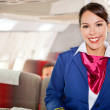 Air stewardess — Stock Photo
