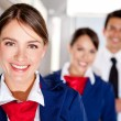 Airplane cabin crew — Stockfoto