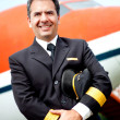 Airplane pilot — Stock Photo