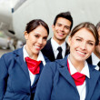 Stock Photo: Cabin crew