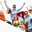 Family traveling by airplane — Stock Photo #9391022