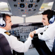 Pilots handshaking — Stock Photo #9391028