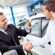 Foto Stock: Couple buying car