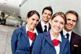 Cabin crew — Stock Photo