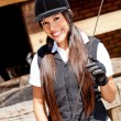 Female jockey - Stock Photo
