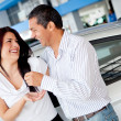 Couple buying car — Stock Photo #9415644