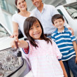 Family buying car — Stock Photo #9415653