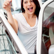 Woman buying a car — Stock Photo #9415663