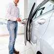 Royalty-Free Stock Photo: Man opening a car