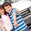 Happy kids buying car — Stock Photo #9415669