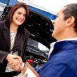 Woman at the mechanic — Stock Photo #9469313