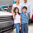 Royalty-Free Stock Photo: New family car