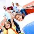 Happy kids on vacations — Stockfoto #9495765