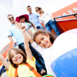 Happy kids on vacations - Stockfoto