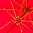 Stock Photo: Red parasol