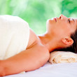 Woman relaxing at a spa — Stock Photo