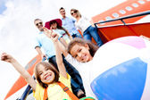 Happy kids on vacations — Stock Photo