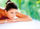 Woman at a spa — Stock Photo
