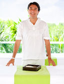 Masseur at a spa — Stock Photo