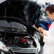 Car checkup at the mechanic — Stock Photo