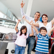 Royalty-Free Stock Photo: Family buying a car