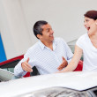 Stock Photo: Couple looking for new car