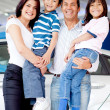 Family buying a car — Stock Photo #9525554