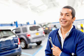 Mechanic at a repair shop — Stock Photo