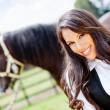 Horse woman — Stock Photo