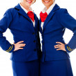 Beautiful air hostesses — Foto de Stock