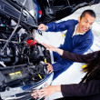 Woman at the mechanic — Stock Photo #9557661